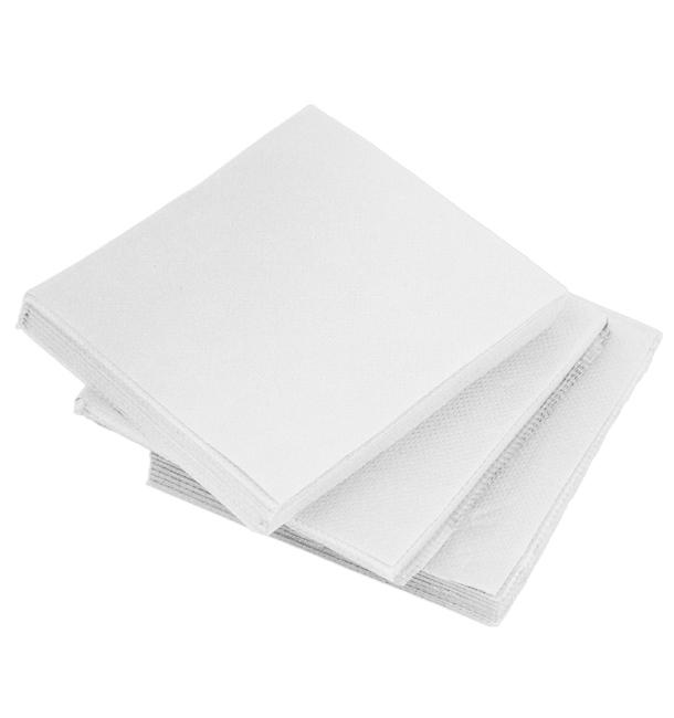 Tovagliolo di Carta micro-point Bianco 20x20cm (100 Pezzi)
