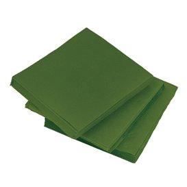 Tovagliolo di Carta micro-point Verde 20x20cm (100 Pezzi)