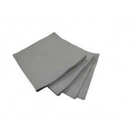 Tovagliolo di Carta micro-point Grigio 20x20cm (100 Pezzi)