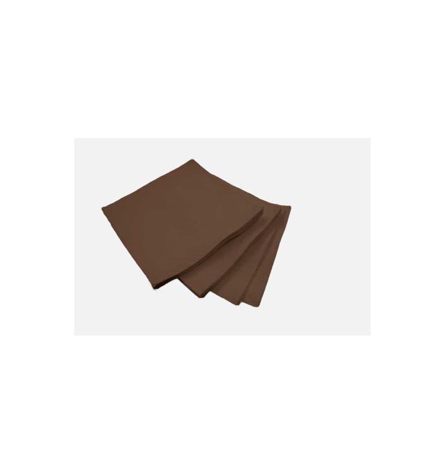 Piegare Tovaglioli Di Carta tovagliolo di carta micro-point marrone 20x20cm (100 pezzi)