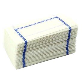 """Tovagliolo di Carta """"Zigzag"""" Bianco Decorato 14x14cm (30000 Pezzi)"""