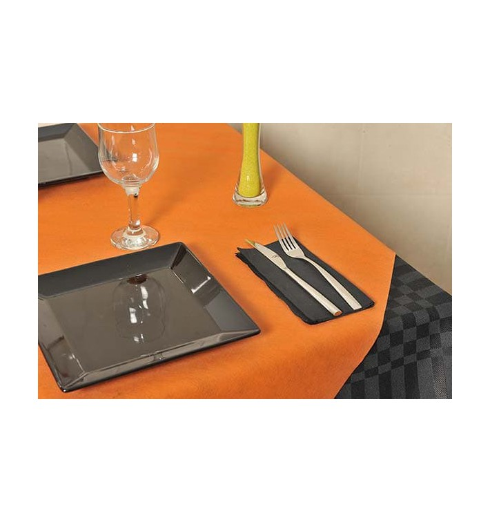 Tovaglia Non Tessuto Arancione 120x120cm (150 Pezzi)