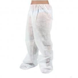 Pantalone Pressoterapia in TNT di PP Plastificato Bianco (1 Pezzo)