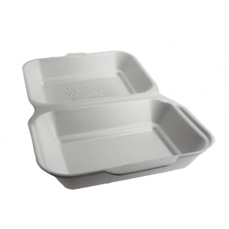 Contenitori Polistirolo Lunchbox Bianco 185x155x70mm (125 Pezzi)