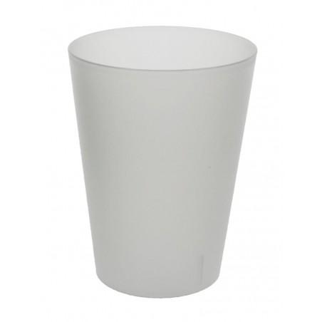 Bicchiere di Plastica Ecologico Transparente 500 ml (24 Pezzi)