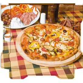 Scatola per Pizza Al Bassanello Tavola 33x33x4,2 cm (100Pezzi)