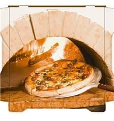 Scatola per Pizza Al Bassanello Forno 26x26x4,2 cm (100Pezzi)