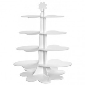 "Alzatina ""Cloud"" per Fingerfood 75cm (5 Pezzi)"