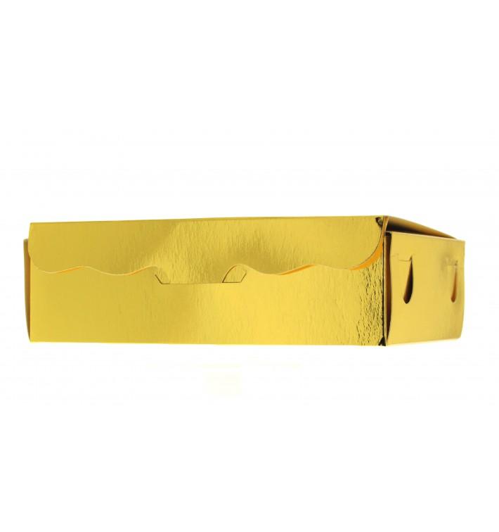 Scatola per Dolci e Praline Oro 14x8x3,5cm 250g (50 Pezzi)