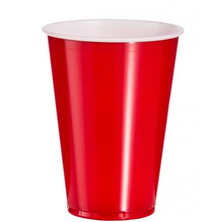 Bicchiere Rosso Plastica PS 10 Oz/300ml (100 Pezzi)