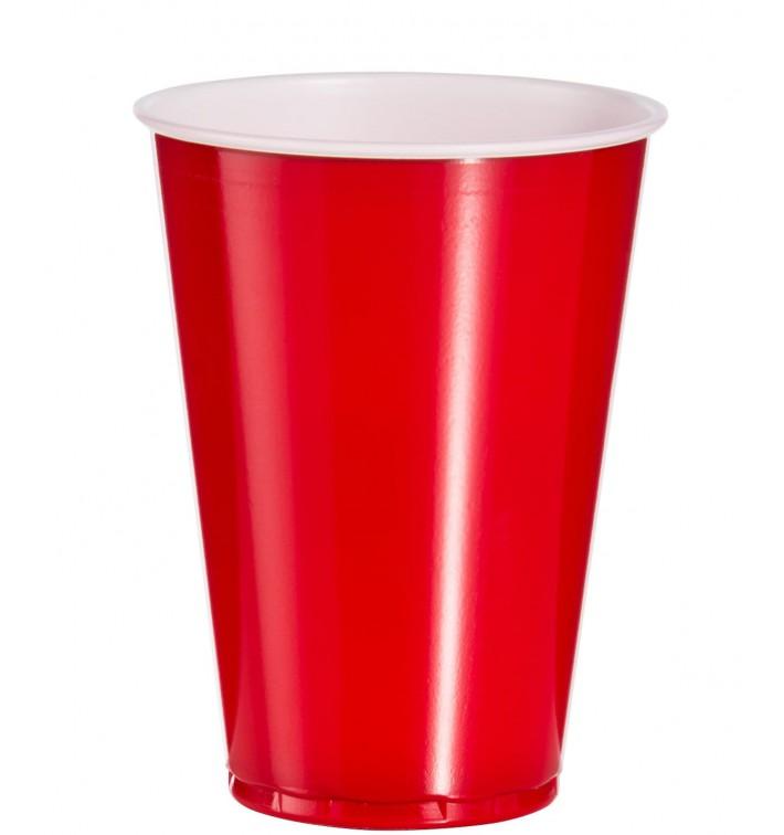 Bicchiere Rosso Plastica PS 10 Oz/300ml (2500 Pezzi)