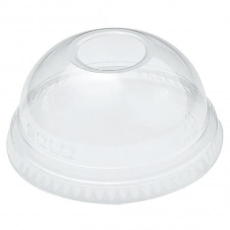 Coperchio a Cupola con Foro per Bicchieri  Ultra Clear 9Oz Grande e 10Oz (100 Pezzi)
