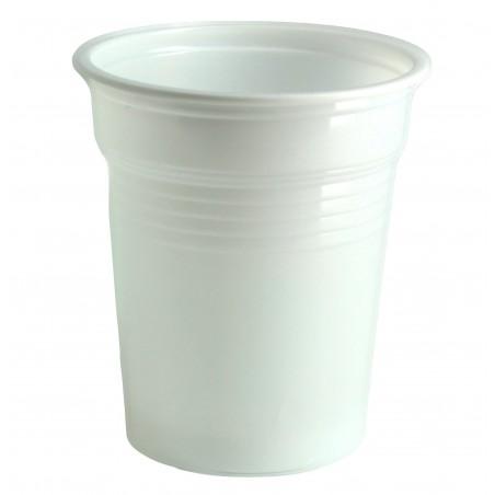 Bicchiere di Plastica PS Bianco 100ml Ø5,7cm (100 Pezzi)