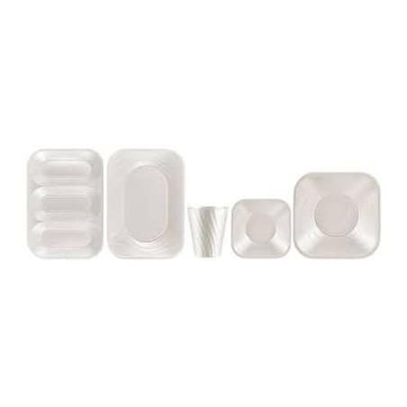 """Bicchiere di Plastica PP """"X-Table"""" Perla 320ml (8 Pezzi)"""