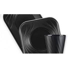 """Bicchiere di Plastica PP """"X-Table"""" Nero 320ml (8 Pezzi)"""