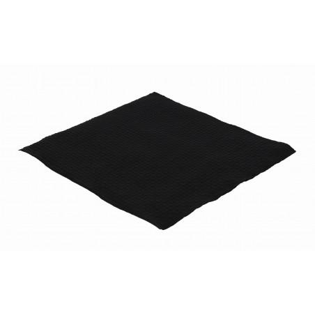 Tovagliolo di Carta Nero 33x33cm 1 Veli (3360 Pezzi)