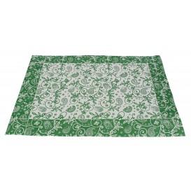 """Tovaglietta di Carta 30x40cm """"Cachemire"""" Verde 50g (2500 Pezzi)"""