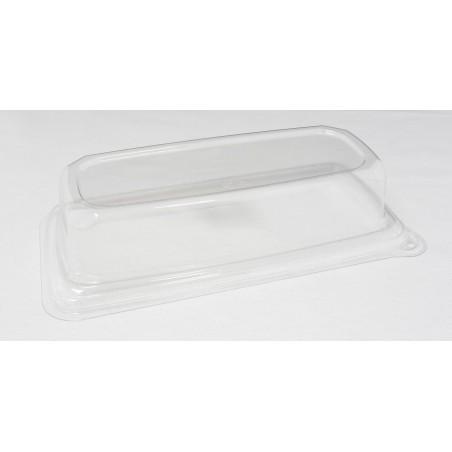 Coperchio Plastica Vassoi Canna da Zucchero 24x11cm (300 Pezzi)