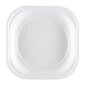 Piatto di Plastica PS Piano Rigida Bianco 200x200mm (1000 Pezzi)