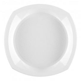 Piatto di Plastica PS Piano Bianco 230x230mm 1C (100 Pezzi)