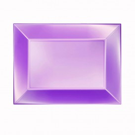 Vassoio Plastica Viola Nice Pearl PP 280x190mm (12 Pezzi)