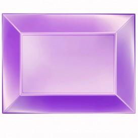Vassoio Plastica Viola Nice Pearl PP 345x230mm (60 Pezzi)