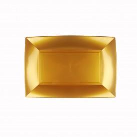 Vassoio Plastica Oro Nice PP 280x190mm (120 Pezzi)