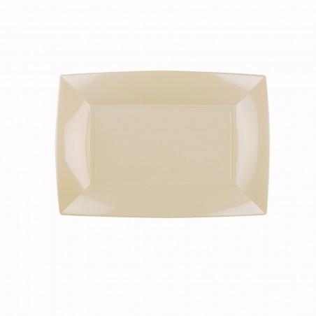 Vassoio Plastica Crema Nice PP 280x190mm (12 Pezzi)
