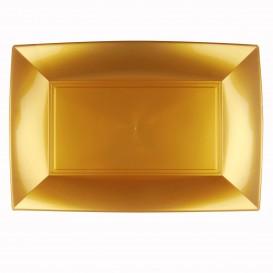 Vassoio Plastica Oro Nice PP 345x230mm (6 Pezzi)