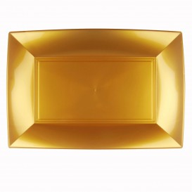 Vassoio Plastica Oro Nice PP 345x230mm (30 Pezzi)