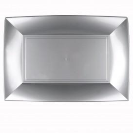 Vassoio Plastica Grigio Nice PP 345x230mm (30 Pezzi)