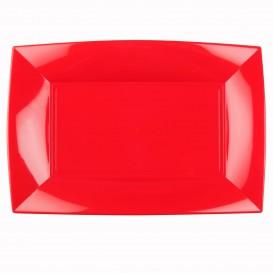 Vassoio Plastica Rosso Nice PP 345x230mm (6 Pezzi)