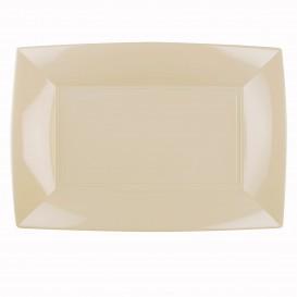 Vassoio Plastica Crema Nice PP 345x230mm (60 Pezzi)