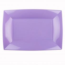 Vassoio Plastica Lilla Nice PP 345x230mm (6 Pezzi)