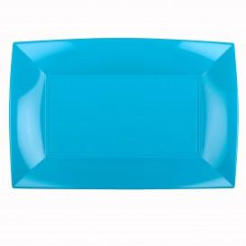 Vassoio Plastica Turchese Nice PP 345x230mm (6 Pezzi)