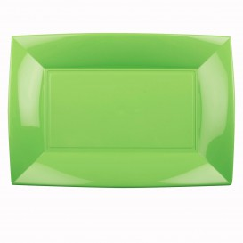 Vassoio Plastica Verde Acido Nice PP 345x230mm (6 Pezzi)