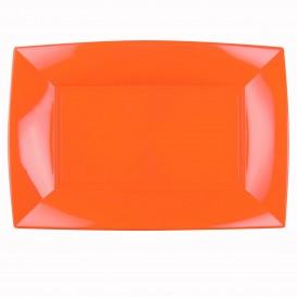 Vassoio Plastica Arancione Nice PP 345x230mm (60 Pezzi)