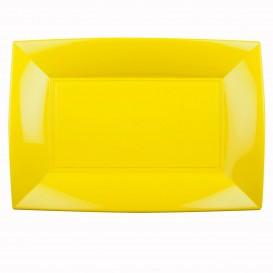 Vassoio Plastica Giallo Nice PP 345x230mm (6 Pezzi)