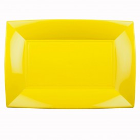 Vassoio Plastica Giallo Nice PP 345x230mm (30 Pezzi)
