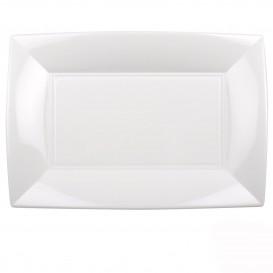 Vassoio Plastica Bianco Nice PP 345x230mm (60 Pezzi)