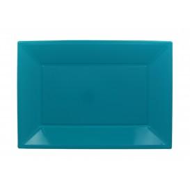 Vassoio Plastica Turchese 330x225mm (180 Pezzi)