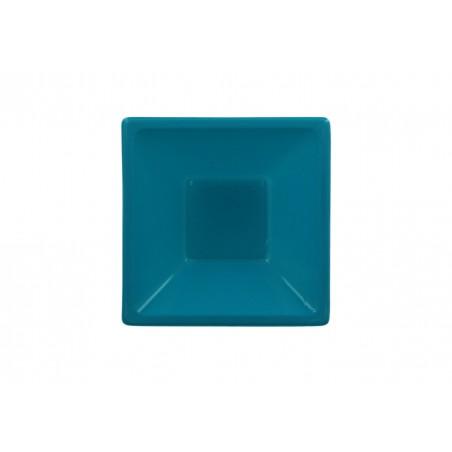 Ciotola Plastica Quadrato Turchese 120x120x40mm (12 Pezzi)