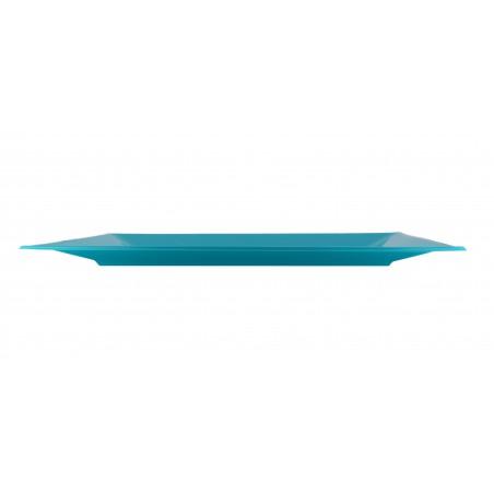 Vassoio Plastica Turchese 330x225mm (3 Pezzi)