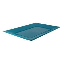 Vassoio Plastica Turchese 330x225mm (25 Pezzi)