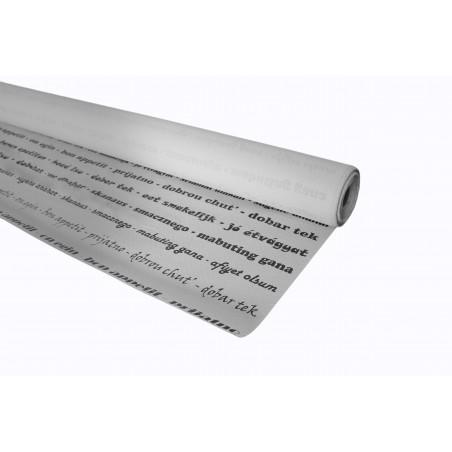 """Tovaglia Carta Rotolo """"Buon Appetito"""" Bianco 1,2x100m 37g (6 Unità)"""
