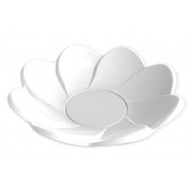 Piatto di Plastica Daisy Degustazione Bianco 30ml (25 Pezzi)