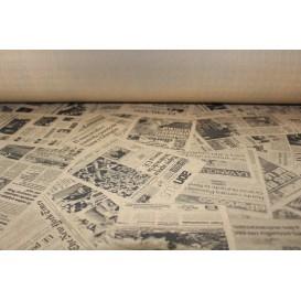 """Tovaglia Carta Rotolo """"Stampa"""" Kraft 1,2x100m 37g (1 Unità)"""