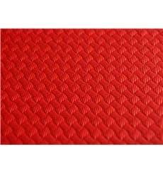 Tovaglia di Carta Taglio 1x1 Metro Rosso 40g (400 Pezzi)