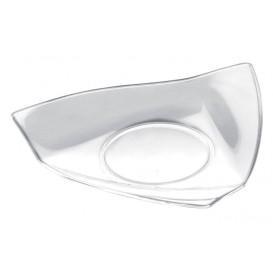 Piatto Degustazione Vela Small Transparente 8,5x8,5 cm (50 Pezzi)