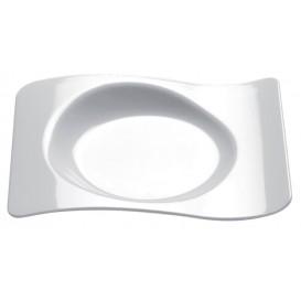 Piatto Degustazione Forma Bianco 8,0x6,6 cm (50 Pezzi)